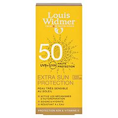 WIDMER Extra Sun Protection SPF 50 Creme unparfüm. 50 Milliliter - Rückseite