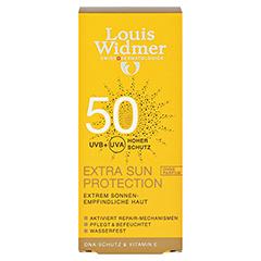 WIDMER Extra Sun Protection SPF 50 Creme unparfüm. 50 Milliliter - Vorderseite
