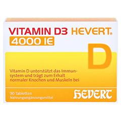 VITAMIN D3 HEVERT 4.000 I.E. Tabletten 90 Stück - Vorderseite