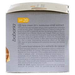 BABARIA Schneckenextrakt Feuchtigkeitscreme LSF 20 50 Milliliter - Rechte Seite