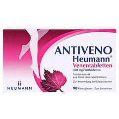 ANTIVENO Heumann Venentabletten + gratis Lippenpflegestift 90 Stück - Vorderseite