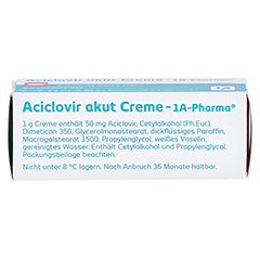 Aciclovir akut Creme-1A Pharma 2 Gramm N1 - Oberseite