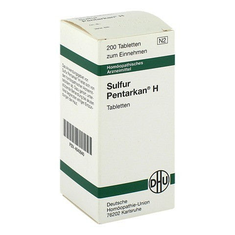 SULFUR PENTARKAN H Tabletten 200 St�ck N2