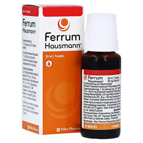 Ferrum Hausmann 50mg Eisen/ml L�sung 30 Milliliter N1