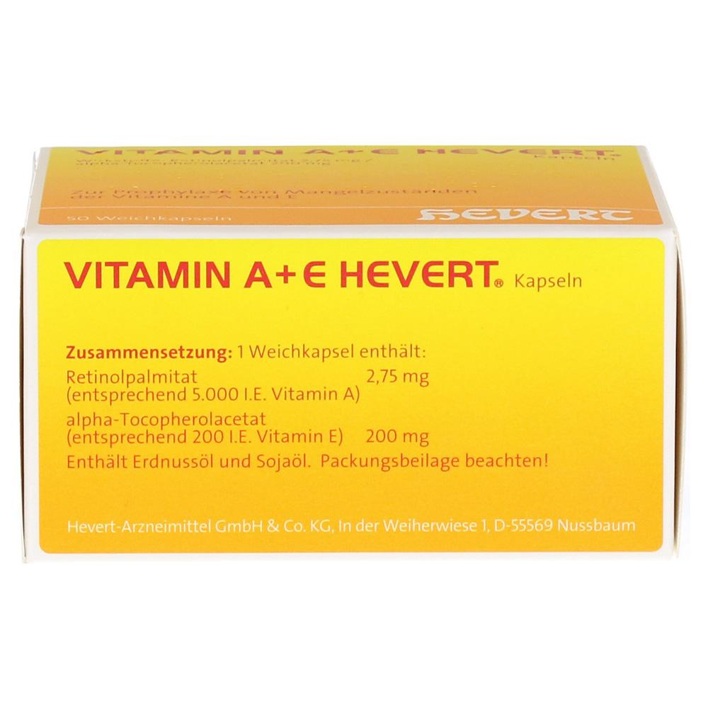 vitamin a e hevert kapseln 50 st ck n2 online bestellen. Black Bedroom Furniture Sets. Home Design Ideas