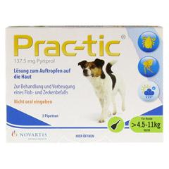 PRAC tic f.kleine Hunde 4,5-11 kg Einzeldosispip. 3 Stück - Vorderseite