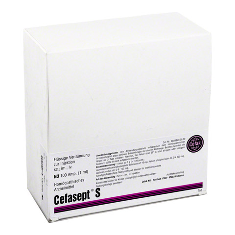 CEFASEPT S Injektionsl�sung 100 St�ck N3