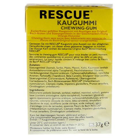 BACH ORIGINAL Rescue Kaugummi 37 Gramm - R�ckseite