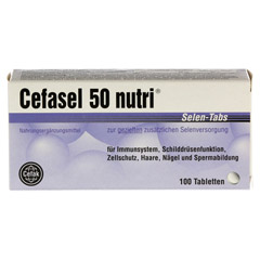 CEFASEL 50 nutri Selen-Tabs 100 Stück - Vorderseite