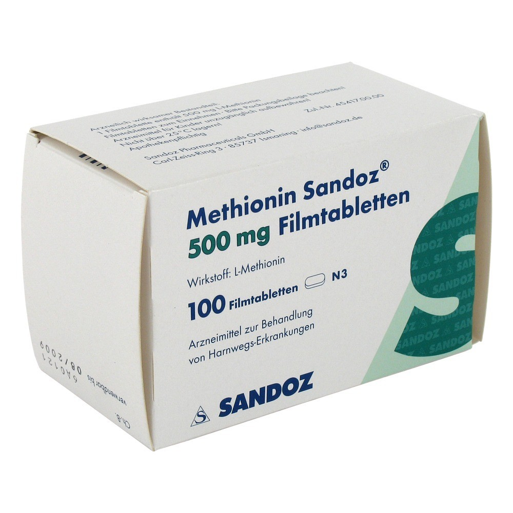 METHIONIN Sandoz 500 mg Filmtabletten 100 Stück N3 online