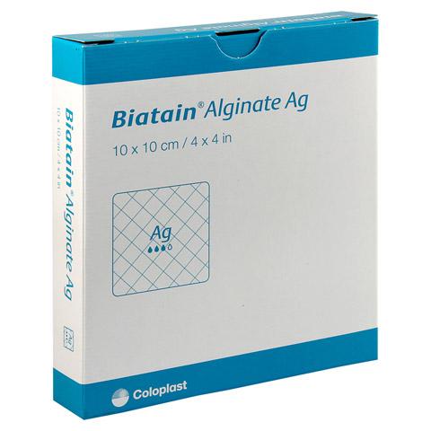 BIATAIN Alginate Ag Kompressen 10x10 cm mit Silber 10 Stück
