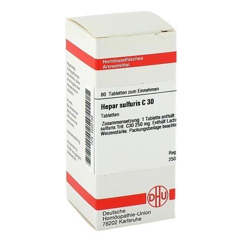 HEPAR SULFURIS C 30 Tabletten 80 Stück