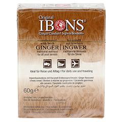 IBONS Karamell-Erdnuss Ingwerkaubonbons Orig.Scha. 60 Gramm - R�ckseite