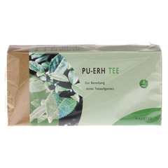 PU ERH Tee Filterbeutel 25 St�ck - Vorderseite