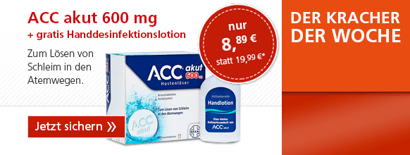 ACC akut 600mg Hustenlöser + gratis Handdesinfektionslotion ACC akut