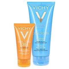 Vichy Ideal Soleil Mattierendes Sonnen-Fluid für das Gesicht LSF 30 + gratis Vichy Ideal Soleil After-Sun 50 Milliliter