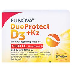 EUNOVA DuoProtect D3+K2 4.000 I.E. 90 Stück - Vorderseite