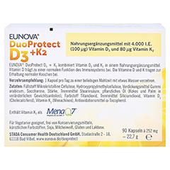 EUNOVA DuoProtect D3+K2 4.000 I.E. 90 Stück - Rückseite