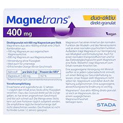 MAGNETRANS duo-aktiv 400 mg Sticks 50 Stück - Rückseite
