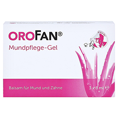 OROFAN Mundpflege-Gel 3x8 Milliliter - Vorderseite