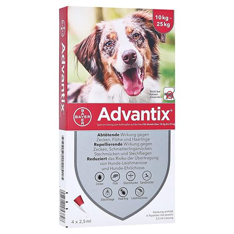 ADVANTIX Spot-on Lsg.z.Auftr.a.d.H.f.Hund 10-25 kg 4 Stück