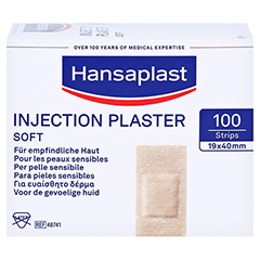 HANSAPLAST Soft Injektionspflaster Strips 19x40 mm 100 Stück - Vorderseite