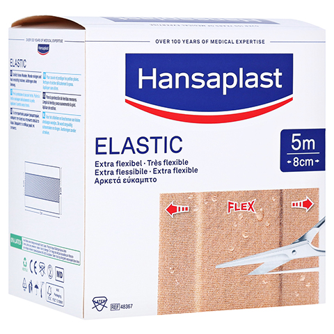 HANSAPLAST Elastic Pflaster 8 cmx5 m 1 Stück