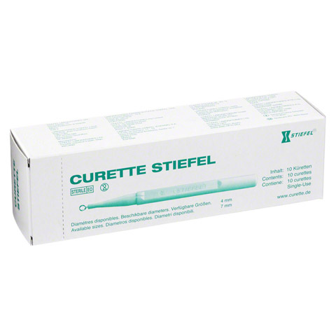 CURETTE Stiefel 7mm 10 Stück