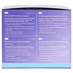 LANSINOH Muttermilchflaschen 160 ml Weithals 4 Stück - Linke Seite