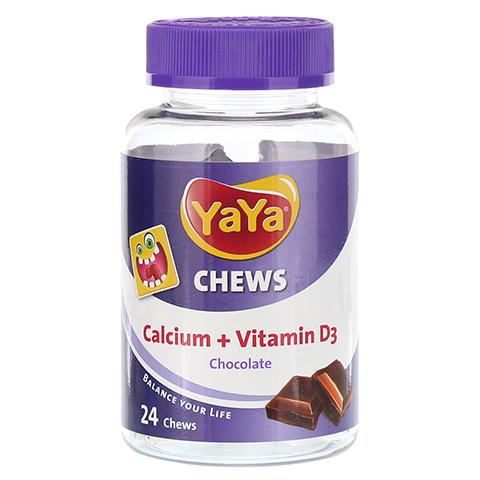 YAYA CHEWS Calcium+Vitamin D3 Chocolate Kaudragees 24 Stück