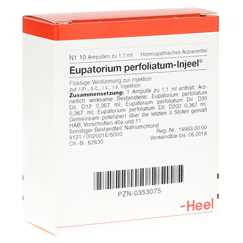 EUPATORIUM PERFOLIATUM INJEEL Ampullen 10 Stück N1