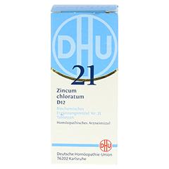 BIOCHEMIE DHU 21 Zincum chloratum D 12 Tabletten 80 Stück N1 - Vorderseite