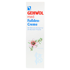 GEHWOL MED Fußdeo-Creme 125 Milliliter - Vorderseite