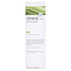 CLINERAL PSO Cream Scalp Mask 200 Milliliter - Rückseite