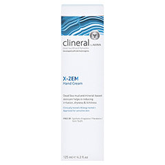 CLINERAL X-ZEM Hand Cream 125 Milliliter - Rückseite