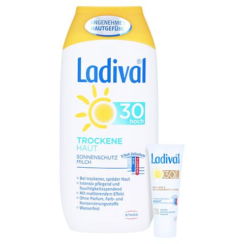 LADIVAL trockene Haut Milch LSF 30 + gratis Ladival Anti-Pigment Creme LSF 30 (5 ml) 200 Milliliter