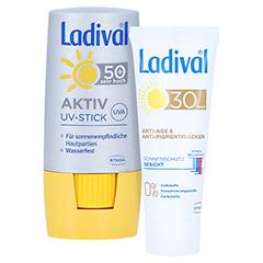 LADIVAL Aktiv UV-Schutzstift LSF 50+ + gratis Ladival Anti-Pigment Creme LSF 30 (5 ml) 8 Gramm