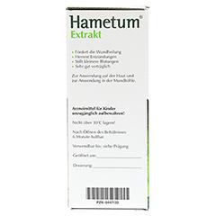 Hametum Extrakt 250 Milliliter - Linke Seite