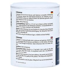 Raab D-Mannose Pulver 90 Gramm - Rechte Seite