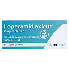 Loperamid axicur 2mg 10 Stück N1 - Vorderseite