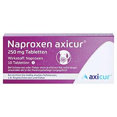 Naproxen axicur 250mg + gratis Tampon Döschen 10 Stück - Rückseite