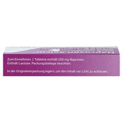 Naproxen axicur 250mg + gratis Tampon Döschen 10 Stück - Oberseite