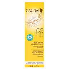 CAUDALIE Anti-Falten Sonnencreme Gesicht SPF 50 + gratis Caudalie Vinoperfect Creme 15 ml 50 Milliliter - Rückseite