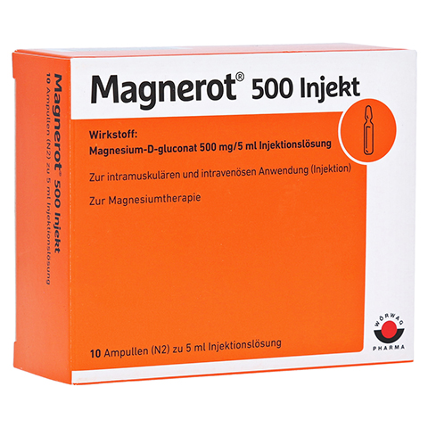 Magnerot 500 Injekt 5ml 10x5 Milliliter N2
