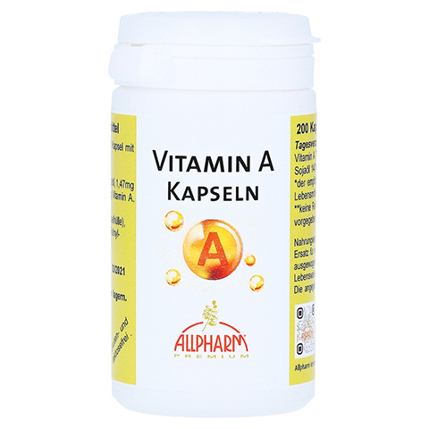 Vitamin A Kapseln 200 Stück