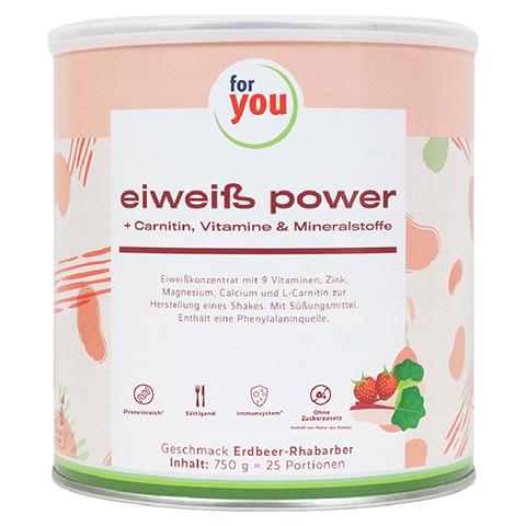 FOR YOU eiweiß power Erdbeere 750 Gramm