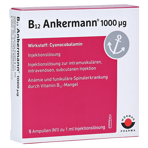 B12 Ankermann 1.000 µg Ampullen 5x1 Milliliter N1