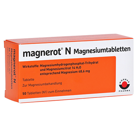 Magnerot N Magnesiumtabletten 50 Stück N1