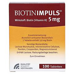 BIOTIN IMPULS 5 mg Tabl. 100 Stück N3 - Rückseite