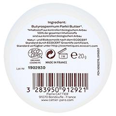 Cattier Sheabutter 100% biologisch 100 Gramm - Rückseite